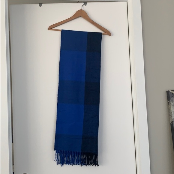 Bright Blue and Navy Rectangle Scarf